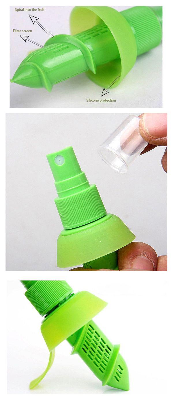 1 Unids Utensilios de Cocina Limpiador de Limón Jugo de Fruta Citrus Spray Exprimidores Creativo Jugo de Frutas Frescas Herramientas Para Accesorios de Cocina
