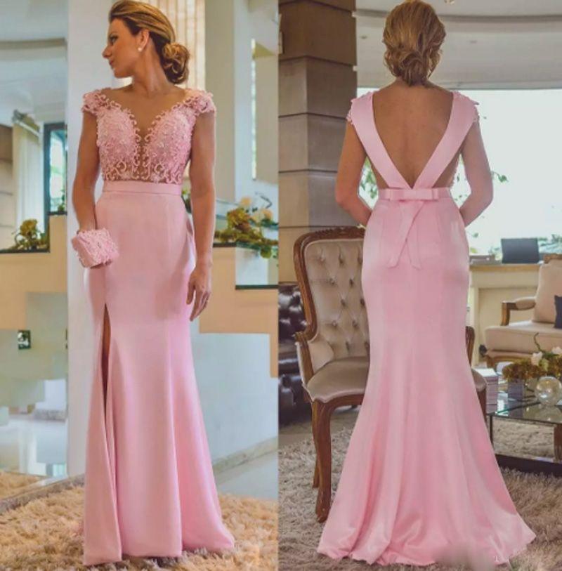 Cap рукавом мать невесты платья кружева аппликация платье на заказ элегантный женский вечернее платье