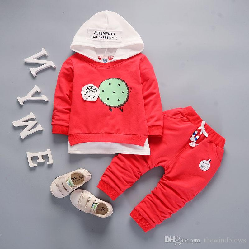 e31fa783c 2018 Baby Boys Clothes Sets Spring Hooded Coat+pants Sport Suit ...