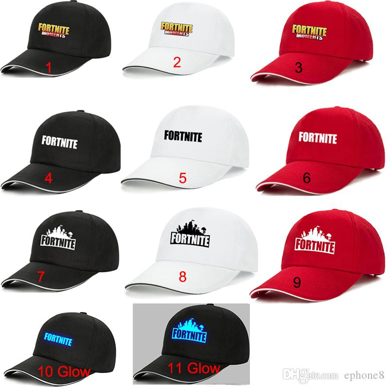 f3d085ee604 11 Styles Fortnite Luminous Caps Teenager Baseball Cap 2018 Summer ...