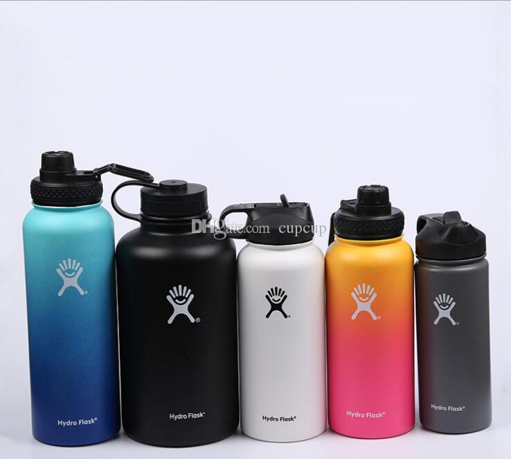 dbd0f17e9b 16oz/18oz/32oz Vacuum Water Bottle Insulated 304 Stainless Steel Water Bottle  Travel Coffee Mug Wide Mouth Flip Cap Cups Water Plastic Bottles Water  Sports ...