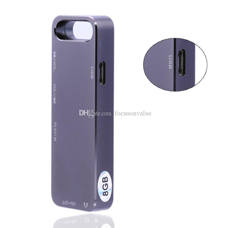 Super Mini Digital Diktiergerät 8GB Multifunktional USB Flash Drive Digital Audio Diktiergerät Mini Diktiergerät mit MP3 Player