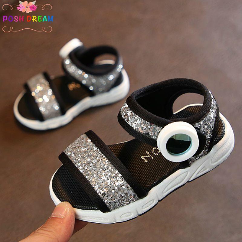 69c3b90e9 Compre SUEÑO POSH Sandalias De Cristal Brillante Para Bebés