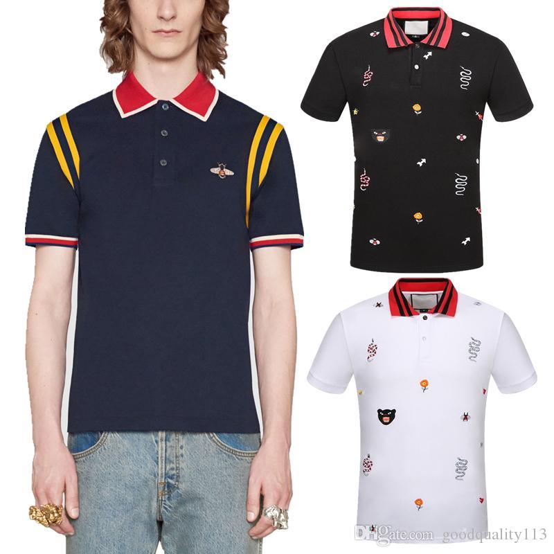 Men s Business POLO Shirt Men s Luxury T-shirt Spring Cotton Brand T ... c6dd0b953a69