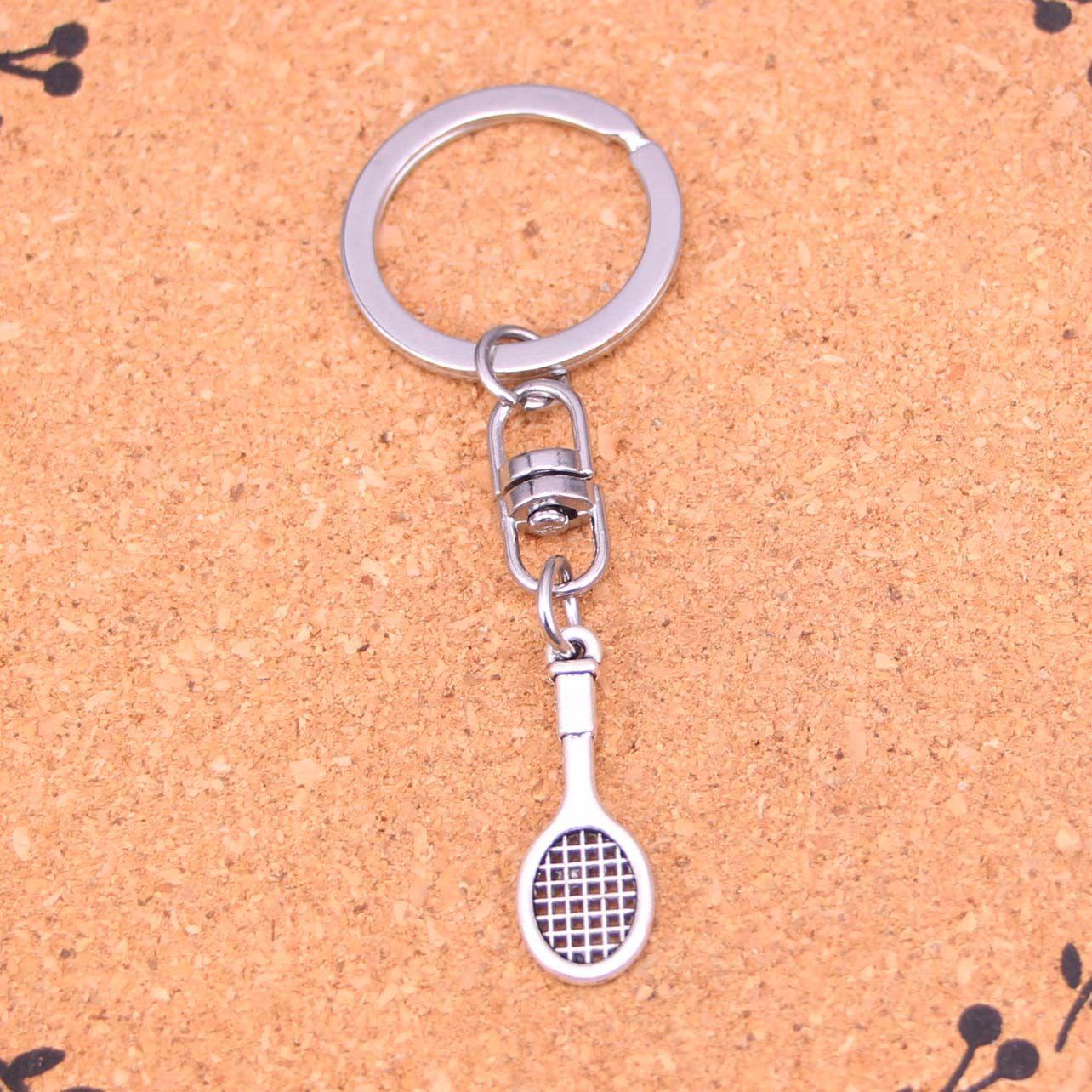 New Design tennis racket Keychain Car Key Chain Key Ring silver pendant For  Man Women Gift bb9c69d44