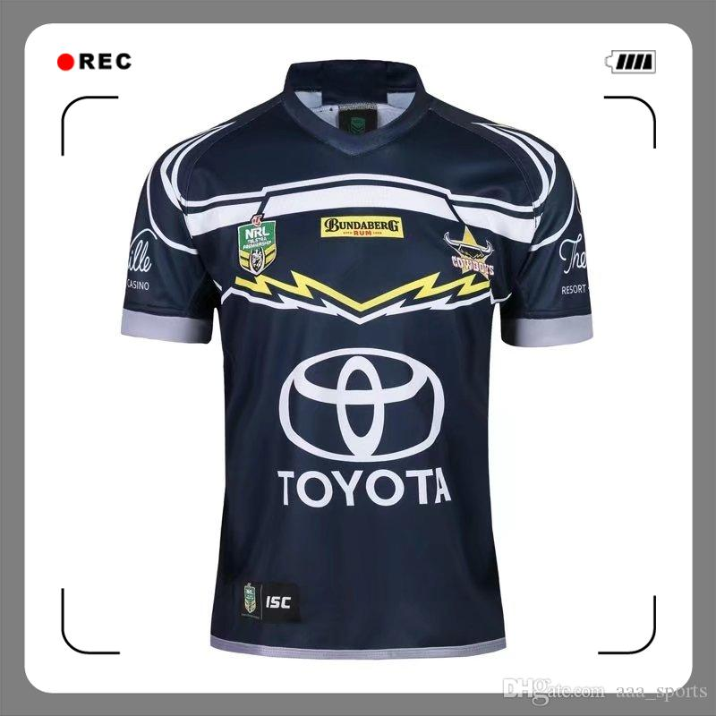 Newest Nrl Jersey North Queensland Cowboys 2018 2019 Home Jersey NRL  National Rugby League Rugby Jerseys Australia Shirt S 3xl UK 2019 From  Aaa sports d0d923340