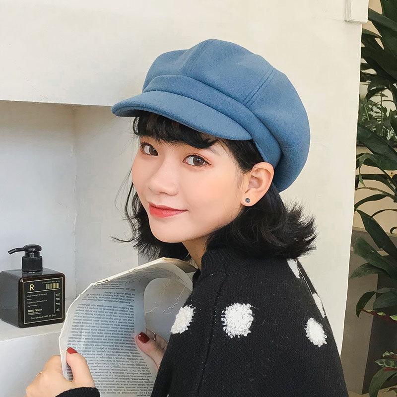 e86193806b711 2019 Women Hat Beret Wool Octagonal Cap Painter Hat Men Newsboy Cap Beret  Hats Female Vintage Winter Hats For Women Flat From Wutiamou