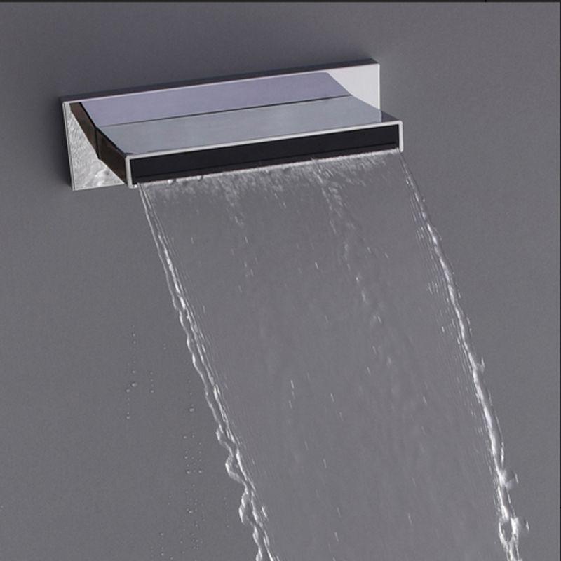 2018 Bathroom Waterfall Shower Heads Abs Plastic Big Water ...