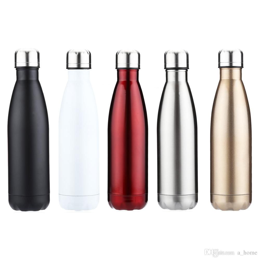 350ml Outdoor Water Bottle Cycling Camping Bicycle Sports Thermal Insulation Stainless Steel For Cola Style Reusable Metal Bottles