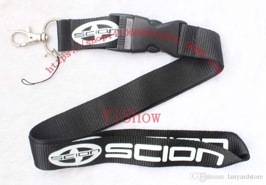 The charisma of a car SCION Lanyard Keychain Key Chain ID Badge cell phone holder Neck strap black.