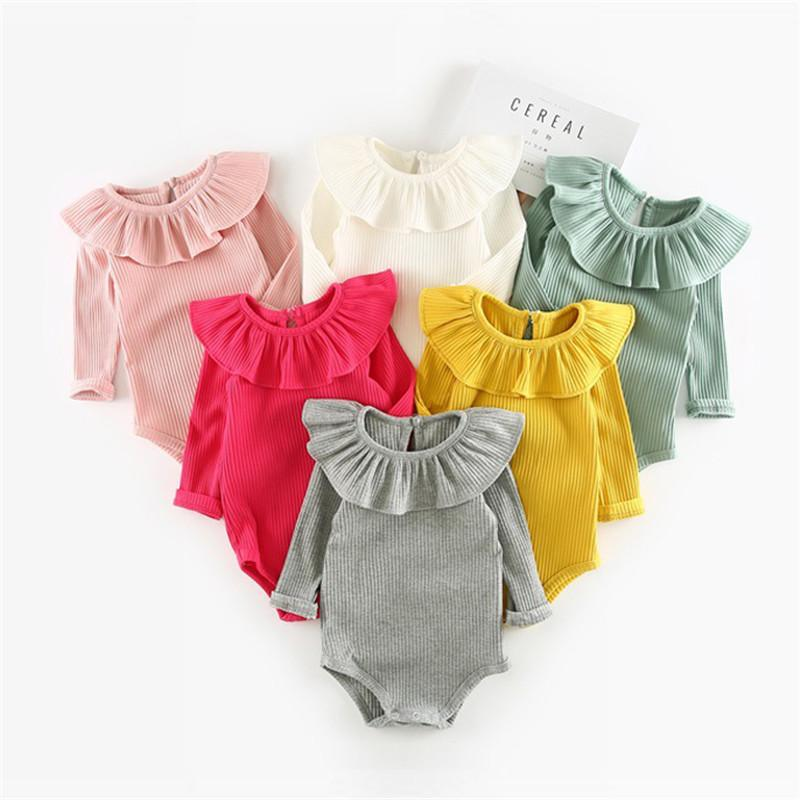 c8348fd41 2019 Winter Autumn Baby Girl Knitted Rompers Princess Newborn Baby ...