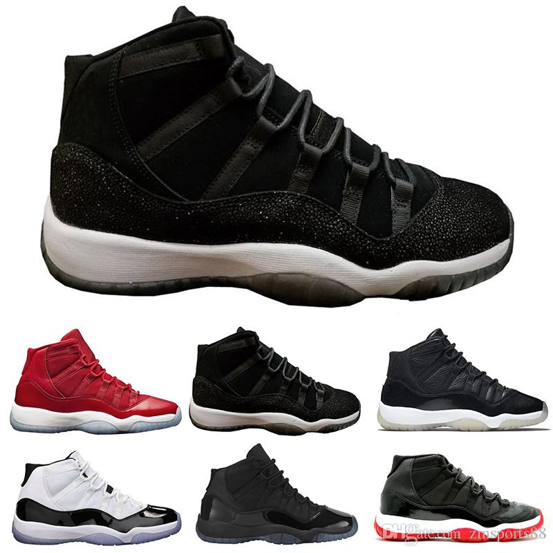 reputable site 1268a 8a1e7 Großhandel Heiße 2018 Nike Air Jordan 11 Neue Männer Lässige Mode Günstige  Blau Hohe Qualität Retroings 11s Schuhe Herren Trainer Outdoor Wanderschuhe  Größe ...