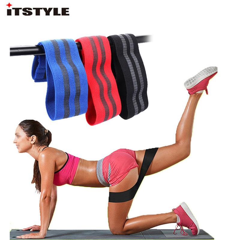 2018 Non Slip Hip Circle Loop Resistance Band Workout Exercise For