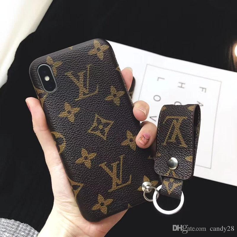 358bc55de46 For iphone X XS XR Xs max New Luxury Phone Leather Case Tag Phone Shell for  iphone 6/6s 7/8 plus Back Cover