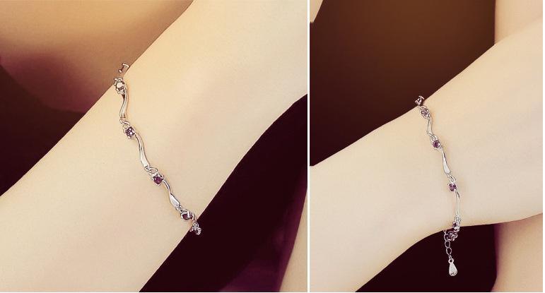 Çılgın Feng Marka yeni antialerjik gümüş Renk takı charm Bilezikler Kadınlar düğün Takı hediyeler Için