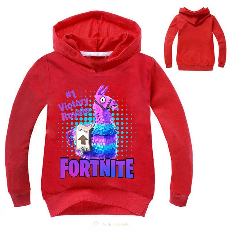 2019 2018 Fortnite Llama Print Sweatshirts Boys Girls Hoodies