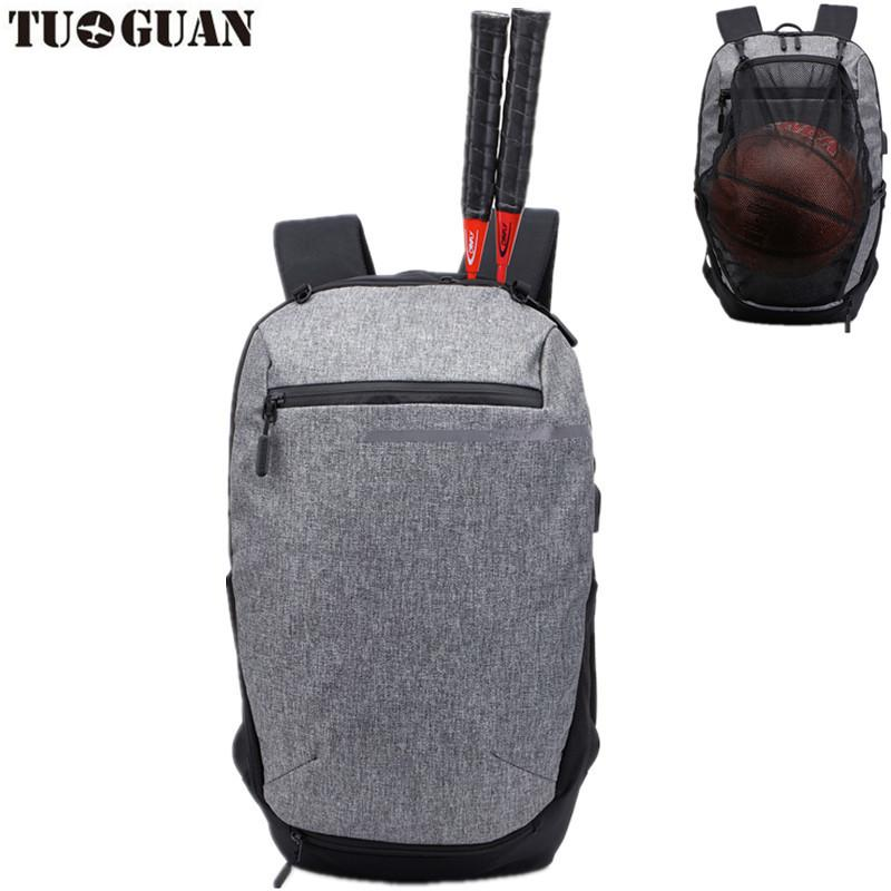 f8a0468af6 2019 Sport Bag Backpack Gym Bag Fitness Nylon Waterproof Men Travel Duffel  Package Tote Sports Racket With Basketball Soccer Net From Hcaihong, ...