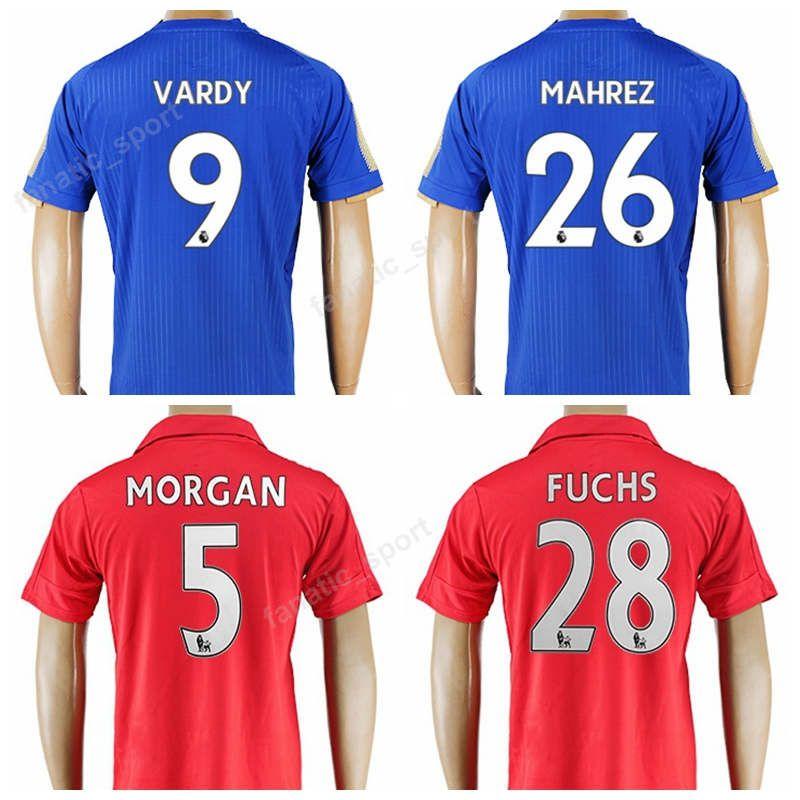 best service 5a05b 89d3d 2019 Leicester City Soccer Jersey VARDY Football Shirt 2017 2018 Kits Men  KING OKAZAKI MORGAN ALBRIGHTON SCHMEICHEL MAHREZ SIMPSON Uniforms Men From  ...
