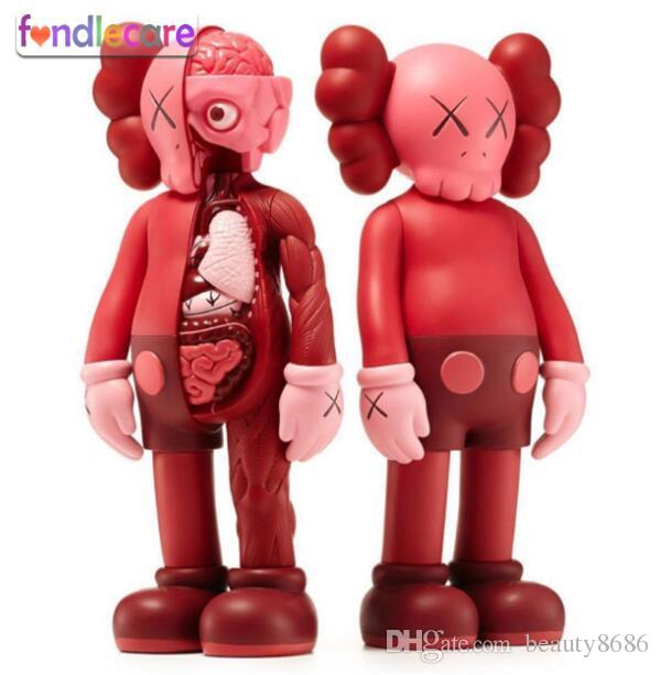 2019 Hot 37cm 16inch Red Kaws Dissected Companion Action Figures