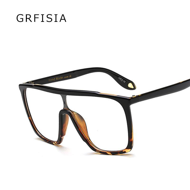 471371e719 GRFISIA Sexy Ladies Oversized Square Glasses Frames Men Women ...