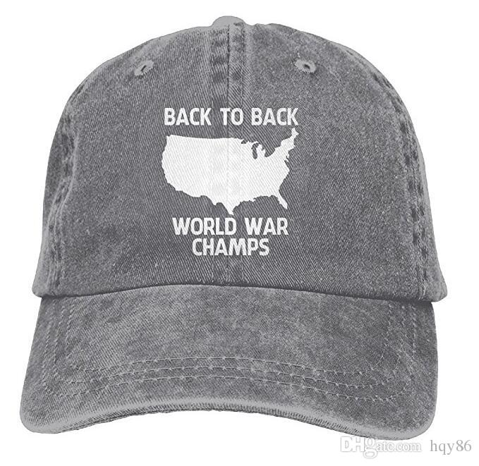 Back To Back World War Champs Snapback Cotton Hat Multi Color Optional  Headwear Flat Caps From Hqy86 b8f6fdc5eaf