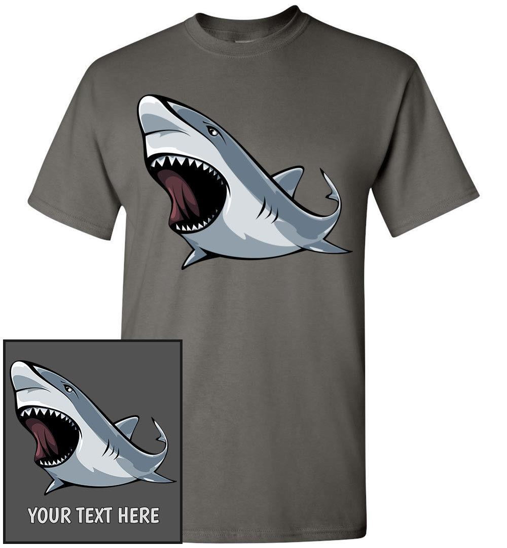 a2f4ef5a Angry Shark T Shirt, Men Women Youth Kids Tank Long Personalized Tee Great  White Buy Funky T Shirts Online Ot Shirts From Tshirtbuzz, $11.01|  DHgate.Com