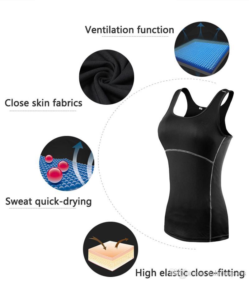 Femmes Sexy Fitness Tight Sport Yoga Chemise Coupe Droite Sans Manches Sportswear Blouses Courir Gilet D'entraînement Crop Top Femelle T-shirt