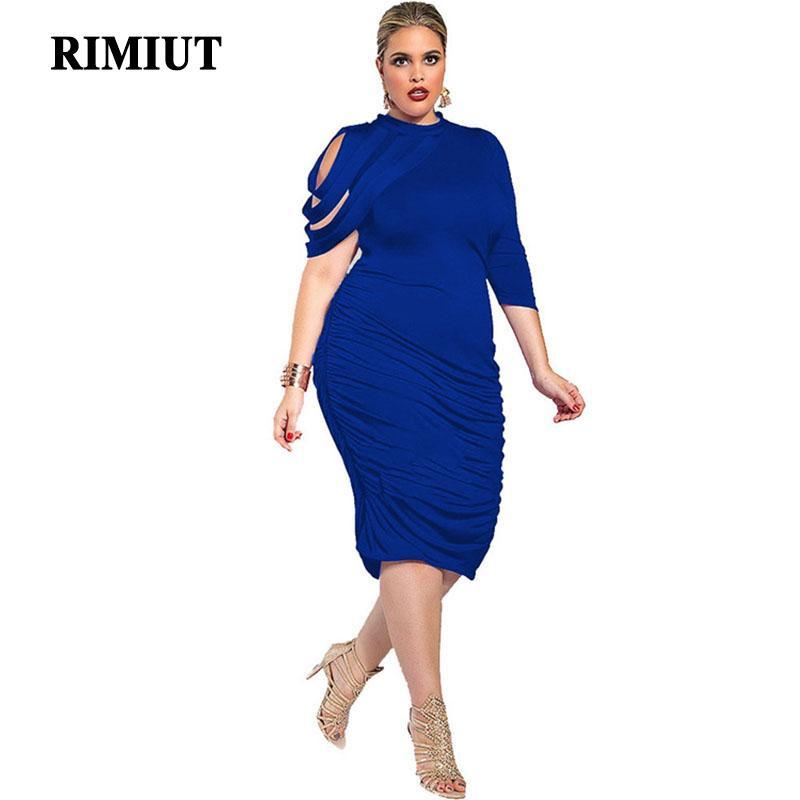3d8c4686d76d Acquista Rimiut 2018 Abito Donna Tubino Irregolare Abito Estivo Moda Casual  Designer Sexy Plus Size Donne L 5XL Fat MM A  31.39 Dal Ppkk