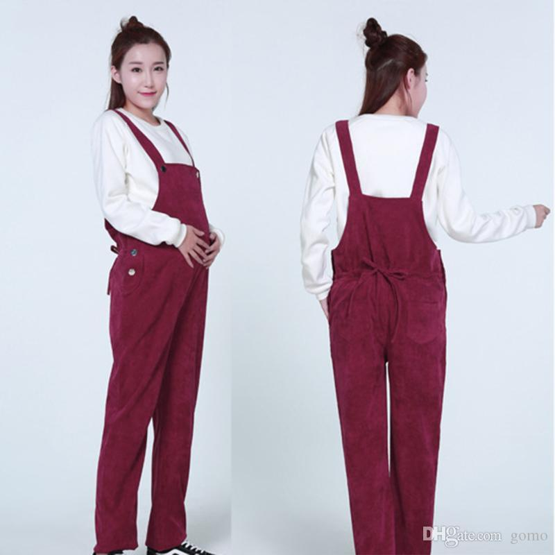 820ef5c3b7aff 2019 Maternity Overalls Pregnancy Jumpsuits Pregnant Women Corduroy Casual  Pants Trousers Clothes Bottoms Bib Pants From Gomo, $14.06 | DHgate.Com