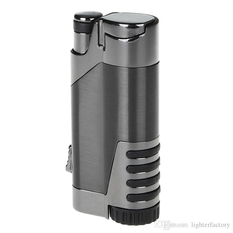 Nueva Llegada COHIBA Metal Encendedores de Cigarros Recto Inflar Los Encendedores Neumáticos Creativos A Prueba de Viento Antorcha de Encendedor de Cigarrillo Electrónico