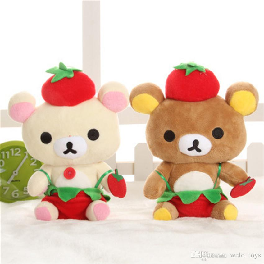 Rilakkuma Bear Plush Toys Pendants 18CM Stuffed Relax Bear Dolls Kawaii Lovers Animals Plush Toy Gift Car Pendant