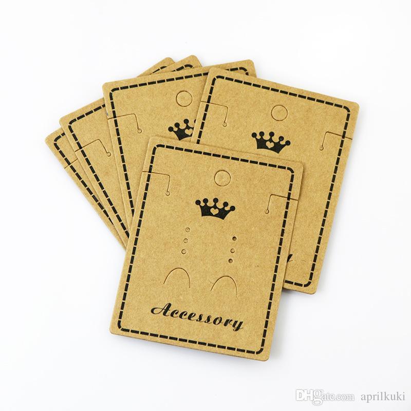 5.57 * 7.8 سم ورق الكرافت أقراط قلادة مجوهرات عرض بطاقة بطاقة الأذن مربط السنانير كرتون سعر العلامات 100 جهاز كمبيوتر شخصى / الكثير