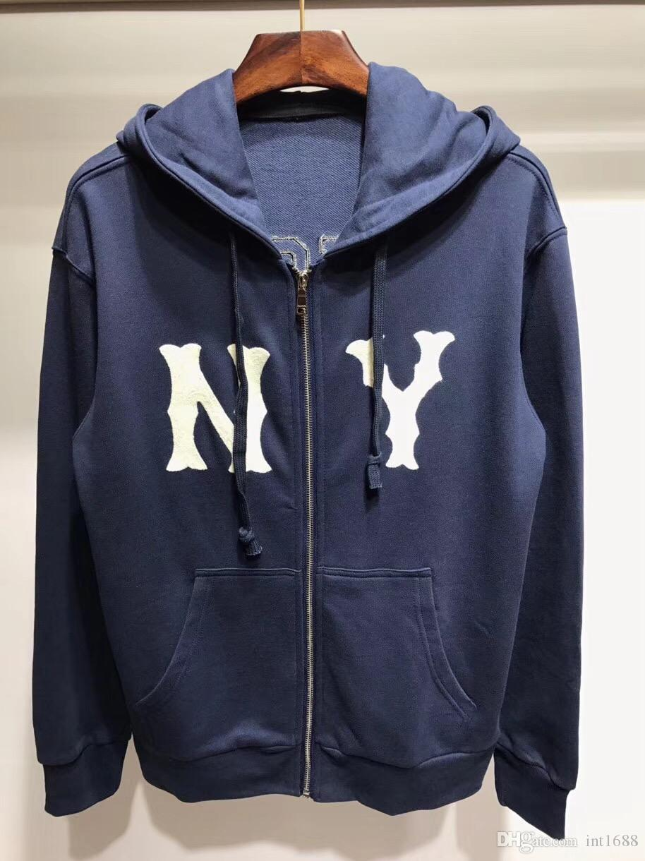 2018 New Brand Fashion Hoodies Men Sweatshirt Ny Letter Embroidery