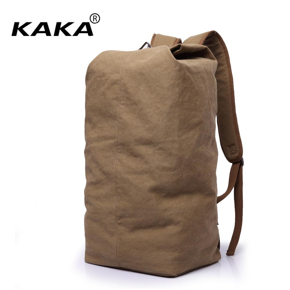 2018 New KAKA Brand Vintage Men Leisure Travel Backpack Portable Canvas  Backpack Women Retro Bucket Big Capacity Black Kelty Backpack Camo Backpack  From ... dd281692be75f
