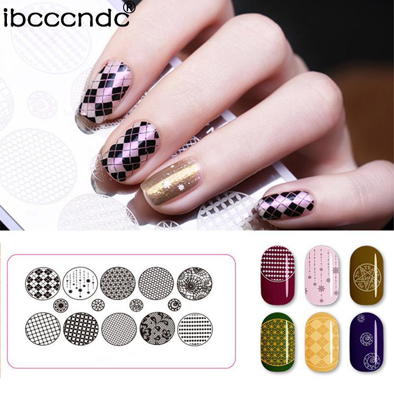 Nail Stamping Plates Lace Flower Animal Pattern Nail Art Stamp ...