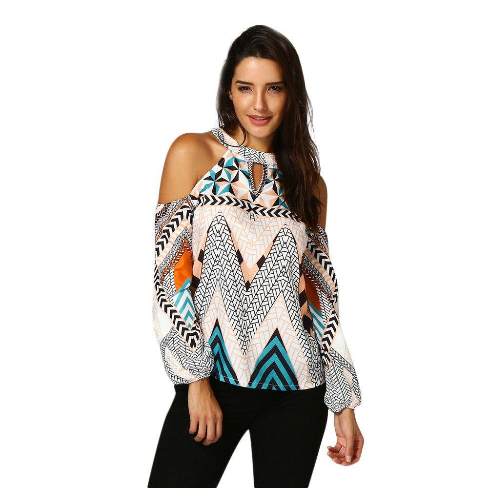 b7e927052 New Trendy T Shirt Women Crop Tops Sexy Off Shoulder Retro Geometry Bohemia Tops  T Shirt Plus Size 3xl Camisetas Mujer Crop Top Cool Shirts Formal Shirts ...