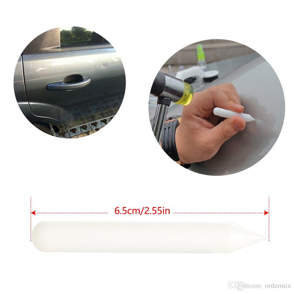 Carrocería del coche Sin pintura Herramientas de reparación de abolladuras Extractor de granizo Eliminación de granizo Pegamento que tira de las lengüetas Ajuste para bmw audi vw ford Uso universal del automóvil