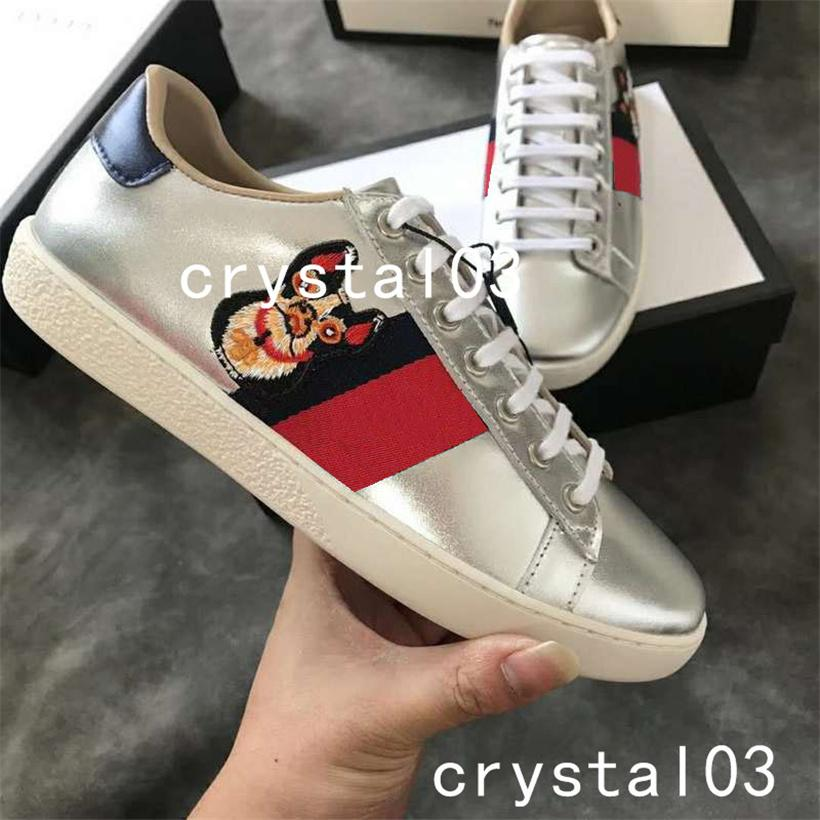 2019 Womens Ace Embellished Leather Sneakers Schoenen Maat