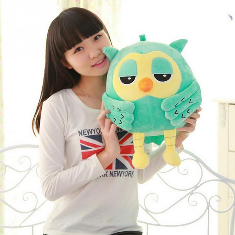 2019 18cm Plush Owl Cute Giant Large Plush Toy Rattle Doll Stuffed