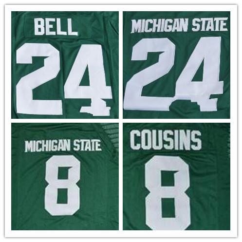 b817a53b149 MEN Michigan State Spartans 24 LeVeon Bell Green Limited White ...
