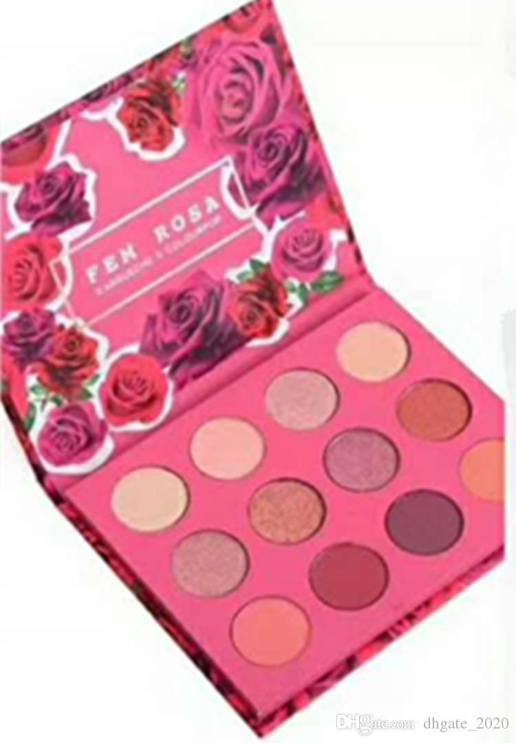Colourpop Cosmetics X Karrueche Karrueche Fem Rosa هي أعتقد أنني أحبك نعم ، من فضلك! بودرة ظلال بودرة ظلال العيون 12 لون ظلال العيون