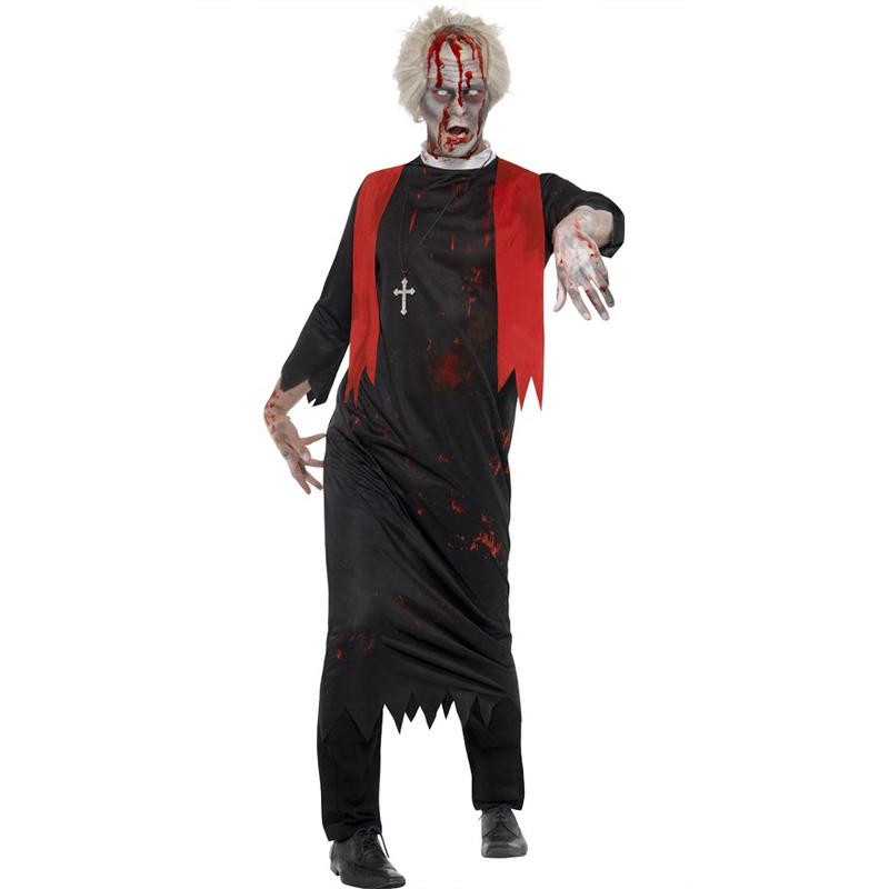 Halloween Costumes Scary Men.Blood Cook Costumes For Men Scary Halloween Costume For Male Cosplay Costume Carnival Zombie Cosplay W5389240