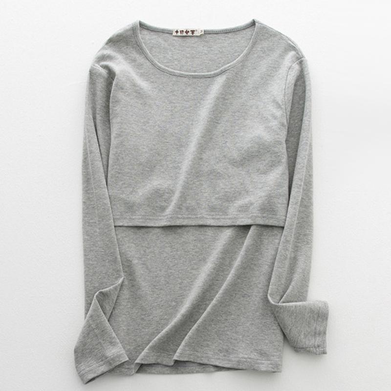 e485688deec6b Summer Fashion Cotton Maternity Nursing T-shirt Breastfeeding Top ...