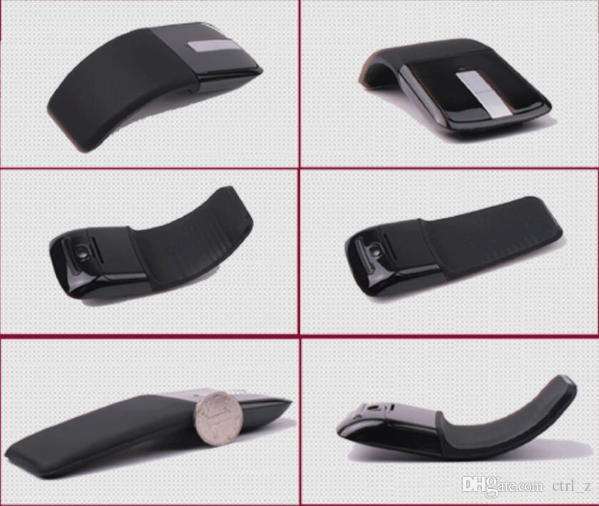 2.4Ghz Foldable Wireless Mouse Folding Arc Touch Mouse Mause Computer Gaming Mouse Mice for Microsoft Surface PC Laptop mice