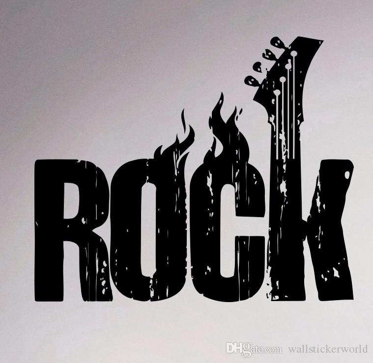 Rock Music Wall Vinyl Decal Creative Sticker Home Decor Bedroom Decor Removable Murals Housewares Music Sticker
