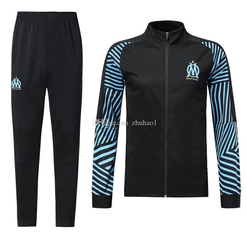 41850b2109e 1819 French Marseille Soccer Jersey 2018Lucas Ocampos Men's Long ...