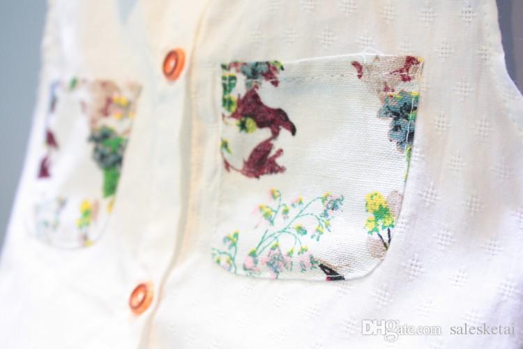 2018 جديد أزياء الصيف فتاة الأطفال مجموعة ملابس أطفال الزهور الشيفون الرسن بلايز + شورت الانحناء بنات ملابس الطفل يحدد الدعاوى