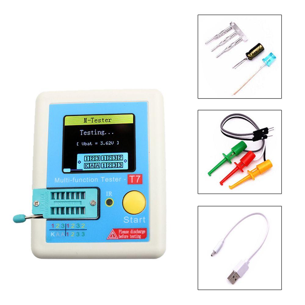 Transistor Tester TFT Diode Triode Capacitance Meter ESR meter NPN PNP MOSFET IR Multifunction tester multimeter