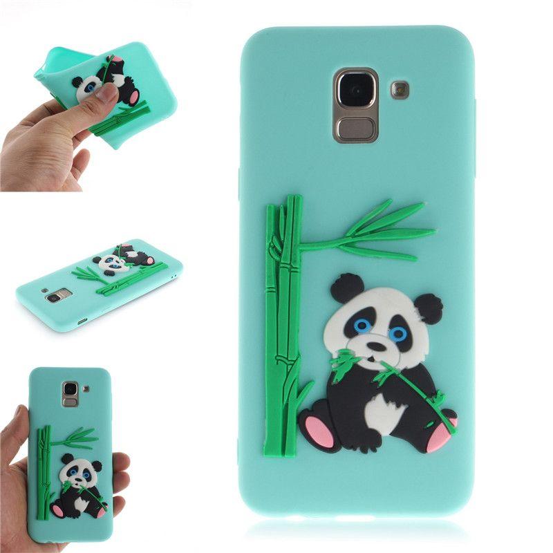 43e3918303 Fashion Cover For Samsung Galaxy J6 2018 Case Coque Candy Silicone Panda  Bamboo Soft Silica Gel Phone Cases Shell Covers Phones Cases Silicone Phone  Cases ...