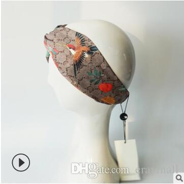 Großhandel 100% Seide Kreuz Stirnbänder Mode Luxusmarke Designer ...